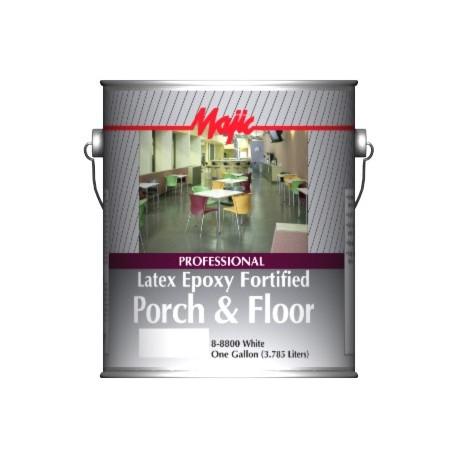 farba do betonu i drewna doskonała na posadzki betonowe PROFFESIONAL LATEX EPOXY FORTIFIED PORCH & FLOOR 8-8800 Majic Paints