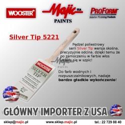 Dobry pędzel skośny do malowania gładkich powierzchni Silver Tip 5221
