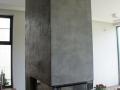 beton na kominku